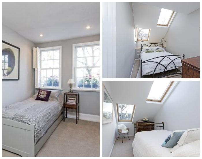Спальные комнаты в суперузком доме (Slim House, Англия). | Фото: tips-and-tricks.co.