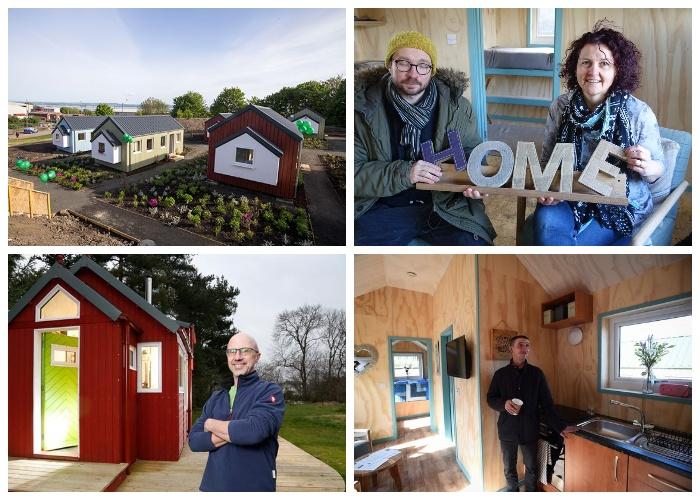 Уже несколько человек заселилось в комфортный домик в деревне Social Bite Village в Грантон.