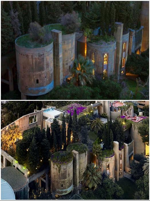 Заброшенную цементную фабрику превратили в утопающую в зелени резиденцию-офис (проект Рикардо Бофилла, Мадрид).   Фото: magazindomov.ru.