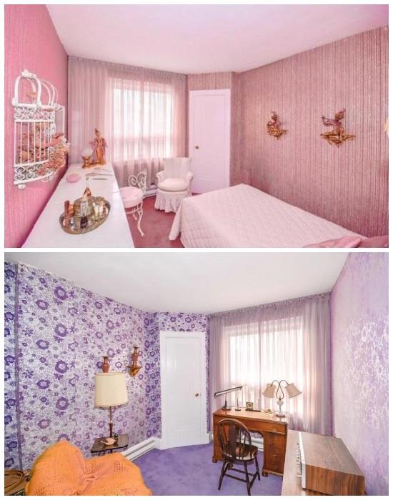 Хозяйка отдавала предпочтение сиреневой и розовой цветовой гамме. | Фото: factsinter.com.