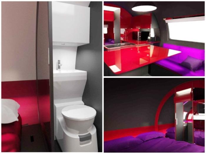 С таким роскошным интерьером сложно будет тягаться даже фешенебельным отелям (авто-трейлер Beauer 3X). / livinginashoebox.com.
