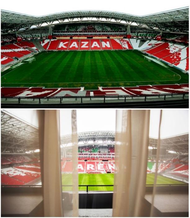 Stadium Hotel находится на восточной трибуне стадиона «Казань-Арена». | Фото: zhiznteatr.mirtesen.ru.