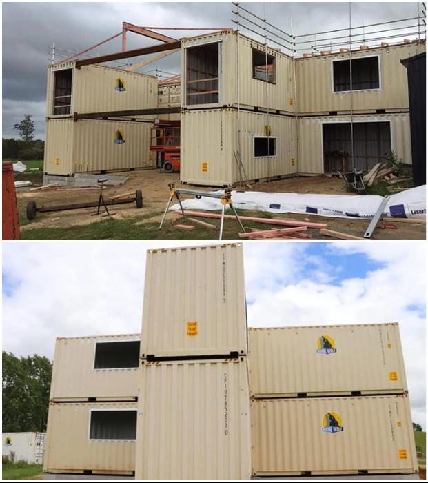 Грузовые контейнеры стали конструкционной основой огромного особняка. © Trade Me.