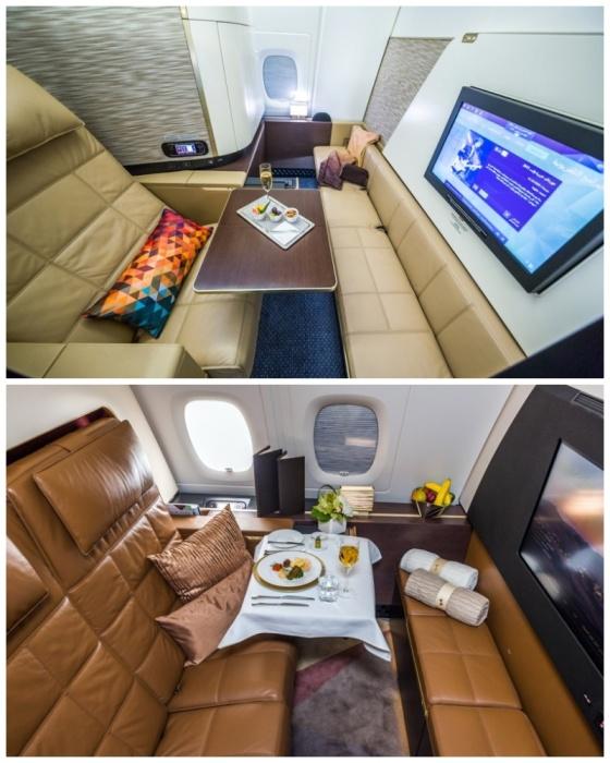 Пассажиры первого класса могут тоже путешествовать уединенно (аэробус А-380). | Фото: joker.ykt.ru.