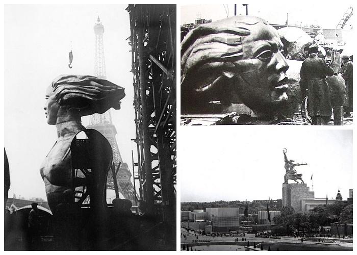 Огромную монументальную группу в Париже собрали за 11 дней (Монумент «Рабочий и колхозница»).