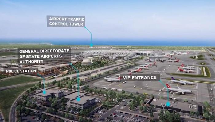Макет нового аэропорта, открывшегося в Стамбуле.