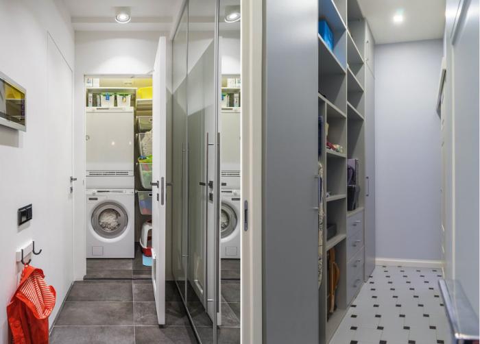 Даже самый узкий коридор можно «уплотнить» шкафом, в котором поместится очень много вещей. | Фото: inmyroom.ru.