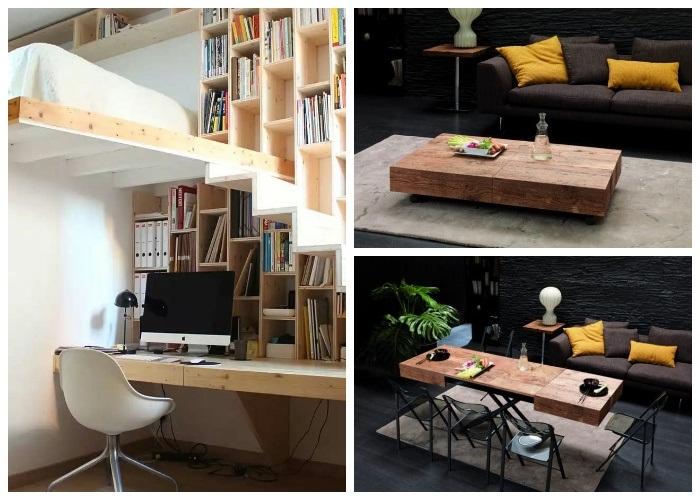 Интересные идеи рационального использования мебели и имеющихся площадей. | Фото: cpykami.ru.
