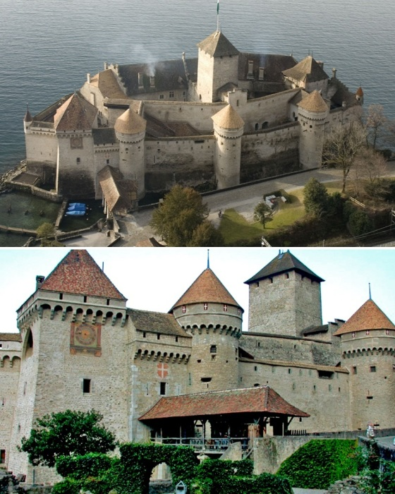 Шильонский замок – самое известное архитектурное достояние XII в. Швейцарии. | Фото: germany.ucoz.ru.
