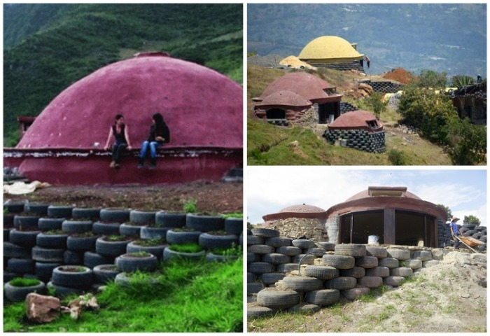 Старые покрышки используют для строительства оградительных заборов, площадок и даже домов. | Фото: elgatoqueruge.blogspot.com.