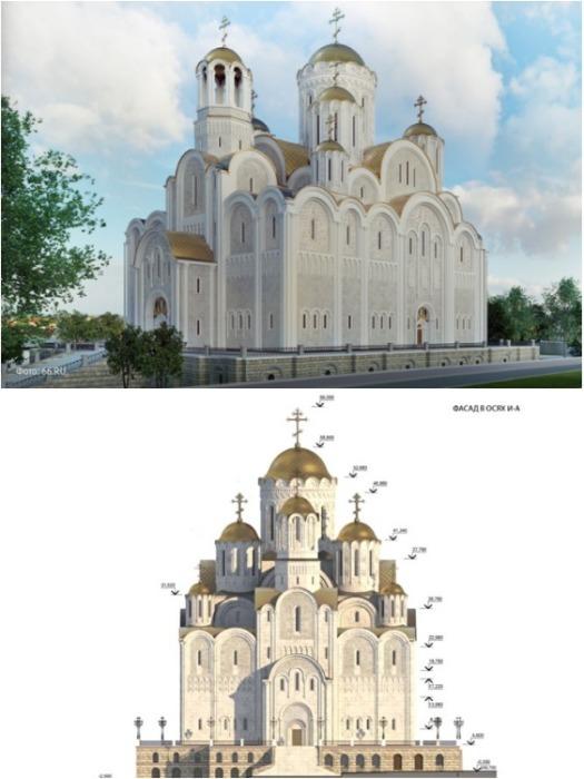 Многие считают, что для «Храма Святой Екатерины» неприемлемы ни архитектурные формы, ни место. | Фото: znak.com.