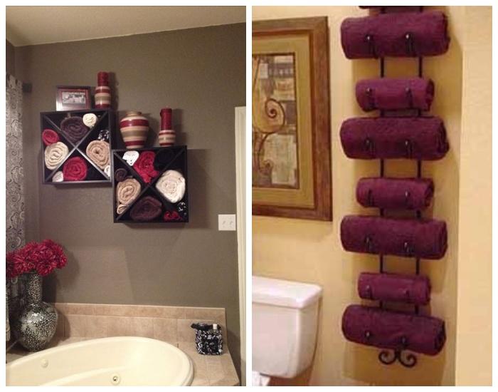 В качестве держателей для полотенец можно использовать и такие оригинальные конструкции.