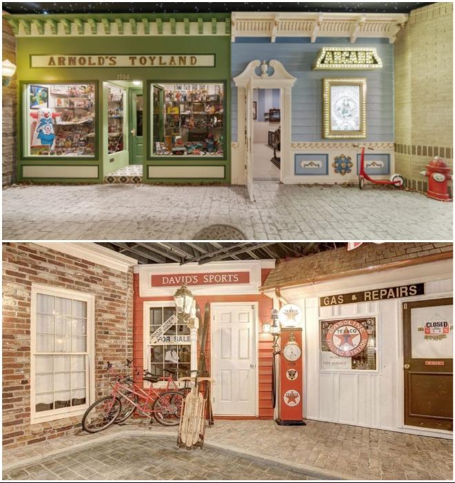 Черный потолок со «звездами» призван создавать иллюзию ночной городской жизни (Round Hill, Мэриленд). | Фото: dailymail.co.uk/ southernliving.com.