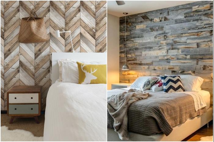 Даже второсортная древесина сможет украсить вашу спальню. | Фото: casaydiseno.com/ savannahkeenan.co.