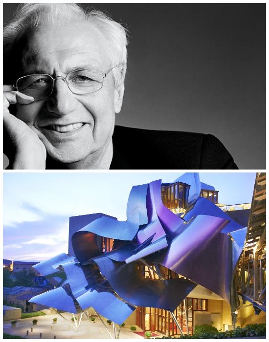 Архитектор Фрэнк Гери и его проект Hotel Marqués de Riscal - одно из самых шокирующих и смелых архитектурных решений. | Фото: design-mate.ru.