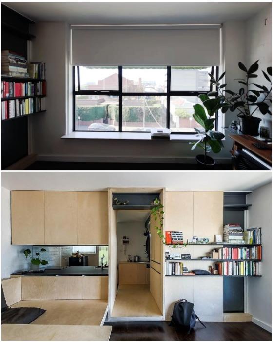 Книги и цветы украшают полностью обновленное жилище креативного архитектора из Мельбурна. | Фото: youtube.com.
