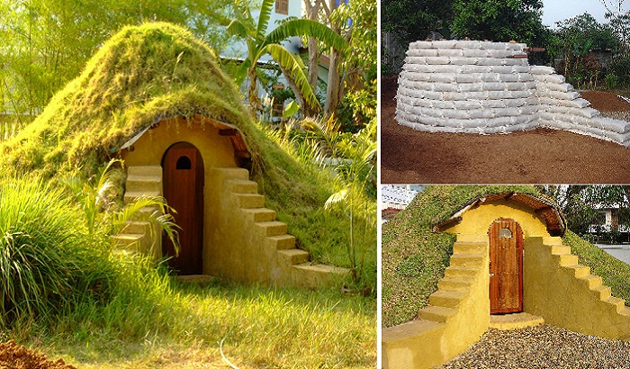 Дом созданный по технологии earthbag.