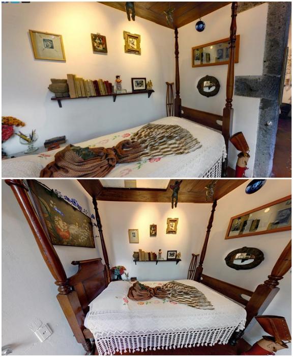 Посмертная маска Фриды хранится на ее кровати в доме-музе(«Caеsa Azul», Мехико). | Фото: mymodernmet.com/ gloss.ua.