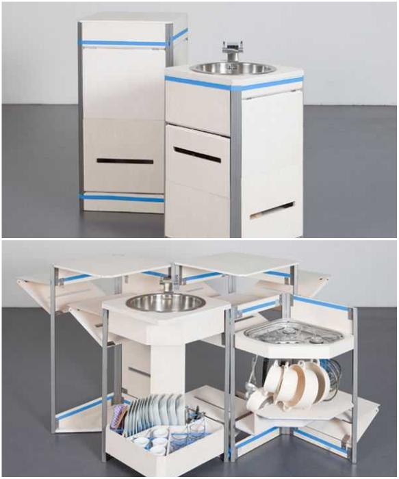 Мобильную кухню-трансформер от «Stewart & Justin Case» можно брать с собой даже на пикник. | Фото: furme.com.ua