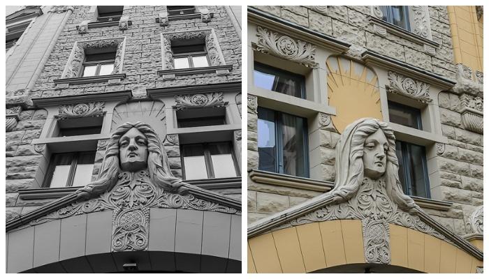 Дом, в котором была устроена конспиративная квартира в дни съемок и в наши дни (к/ф «Семнадцать мгновений весны», улица Яуниела, Рига).