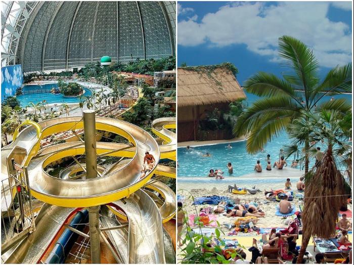 Водные аттракционы превратились в излюбленное место отдыха жителей и гостей Германии в любое время года («Das Tropical Islands Resort»).   Фото: lifter.com.ua/ cheaptrip.livejournal.com.