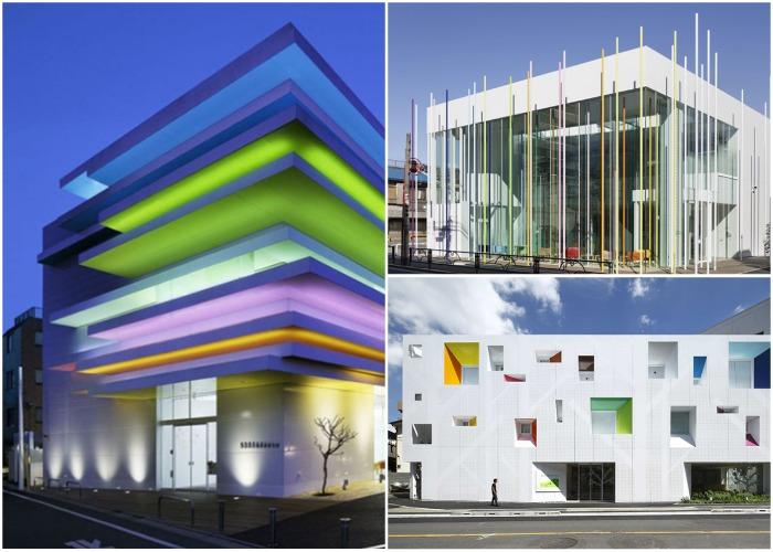 Каждый филиал имеет свой уникальный дизайн (Sugamo Shinkin Bank, Токио).