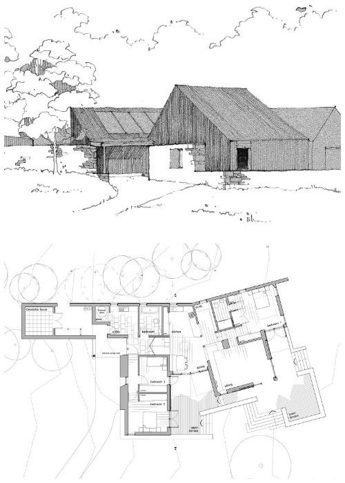 План проекта дома-победителя (Lochside House, Великобритания).