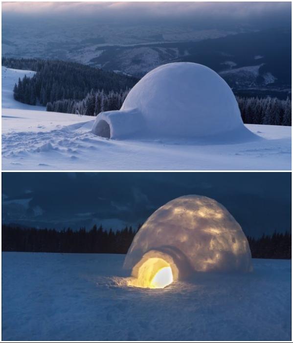 Иглу – традиционное зимнее жилище эскимосов. | Фото: ru.depositphotos.com/ politeka.net.