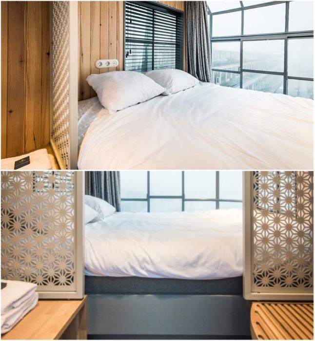 Спальня на втором уровне Yays Crane Apartment (Амстердам). | Фото: dailymail.co.uk.