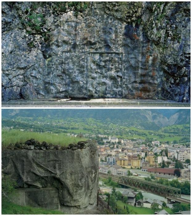 Горный ландшафт позволил спрятать военные объекты еще надежней (Швейцария).