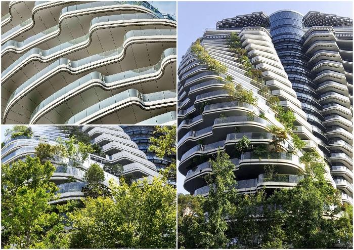 В скором времени балконы превратятся в благоухающий лесной массив (Тайбэй, Tao Zhu Yin Yuan).