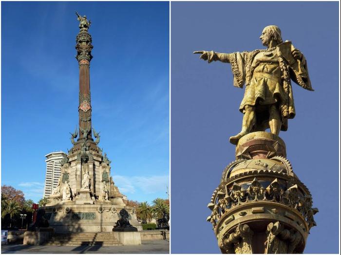 Памятник Колумбу был воздвигнут в 1888 г. к Всемирной выставке в Барселоне. | Фото: timetraveling.ru/ pantv.livejournal.com.