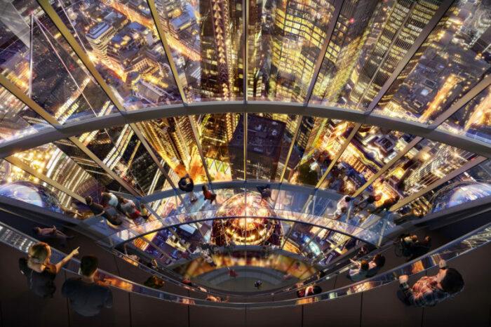 Стеклянные мосты на обзорной площадке станут особенным ее украшением (концепт The Tulip, Лондон). | Фото mymodernmet.com.