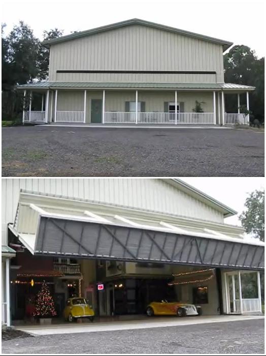 Обычный с виду дом за одно мгновение превращается в мини-город в американском стиле 40-х г. прошлого века. | Фото: bt-women.com.ua.