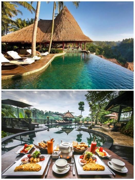 Nandini Jungle Bali Resort & Spa Ubud находится в девственных джунглях на склоне долины реки Аюнг (Бали). | Фото: booking.com/ millionaire.ru.