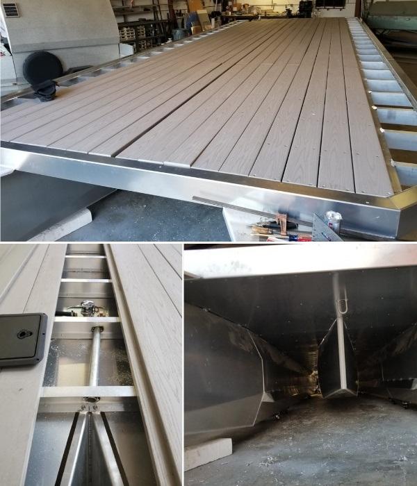 Ширина палубы для понтонной лодки регулируется. | Фото: flickr.com/ © Scott Cronk.