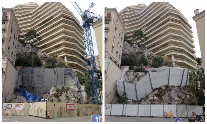 Во время строительства скалу пришлось разобрать, а потом постепенно собрать заново («Villa Troglodyte», Монако). | Фото: archi-wiki.org.