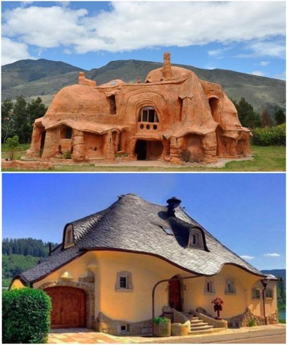 Благодаря податливости материала глинобитные дома могут стать дизайнерским шедевром. | Фото: worldartdalia.blogspot.com.