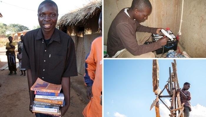 Уильям благодаря книгам научился ремонтировать радиоприемники и создал свой собственный ветряной генератор. | Фото: theinterrupters.blogspot.com.