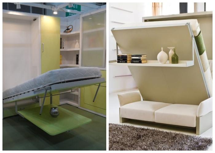 Мебель-трасформер поможет организовать несколько зон в небольшой квартире.