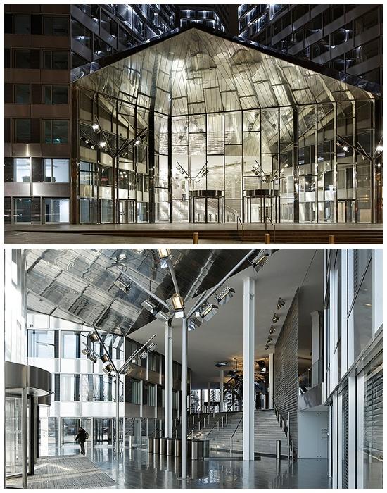 Полностью преобразованное внутреннее пространство имеет свободный план (Офисный центр Pont de Sèvres Towers). | Фото: interior.ru.