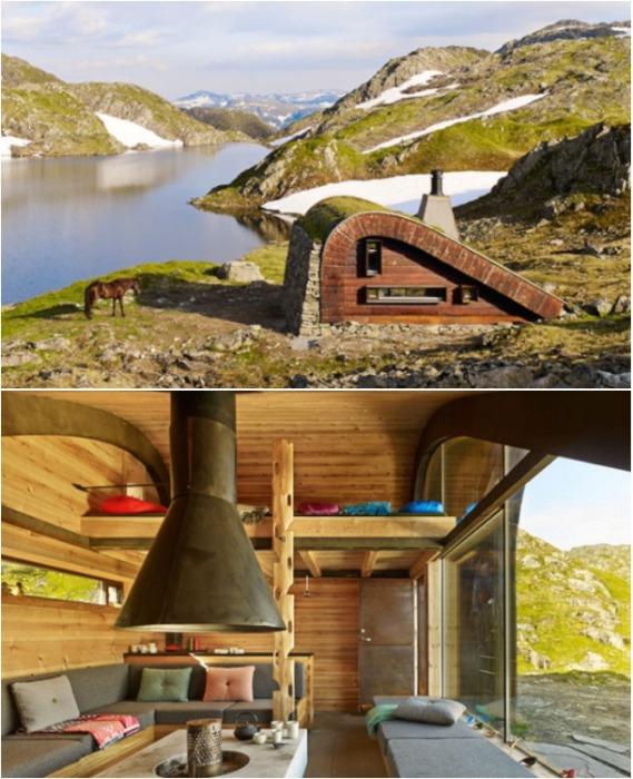 Внутреннее пространство Hunting Lodge организовано традиционно для этих мест - вокруг камина. | Фото: masterskaykms.blogspot.com.