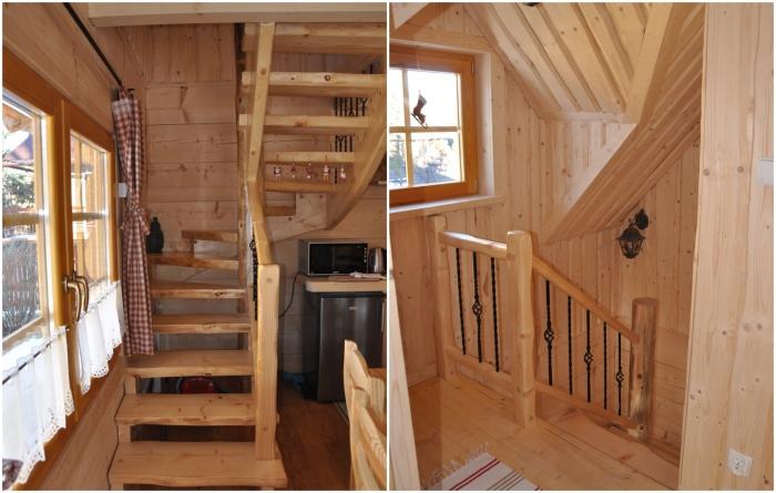 Деревянная лестница ручной работы ведет на второй этаж («Stunning Gate Lodge»). | Фото: stiri.magazinuldecase.ro.