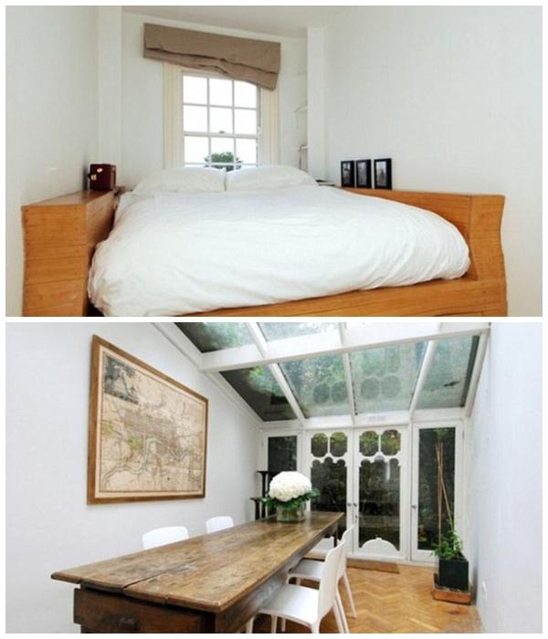 Так выглядят комнаты в самой узкой части «дома-картонки» в Лондоне (Великобритания).