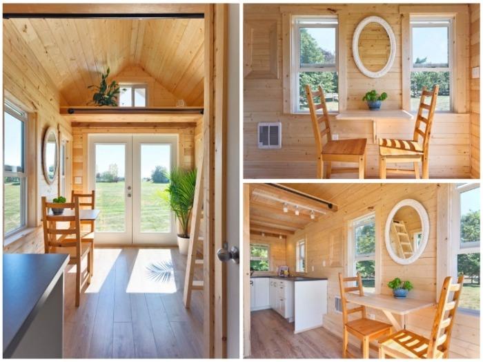 В гостиной-столовой решили использовать минимум мебели («Poco Pink», Канада). | Фото: webniusy.com.