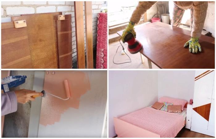 Хрупкой девушке удалось вдохнуть новую жизнь в старую советскую мебель.   Фото: youtube.com/ Bubenitta.