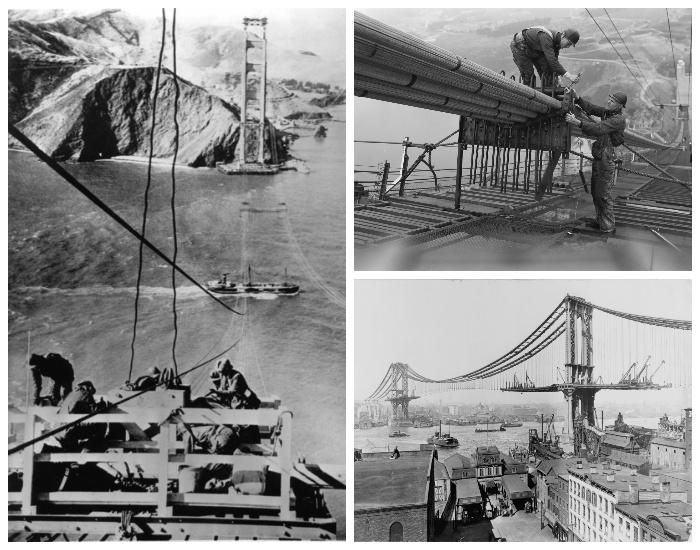 Мост длиною в 2737 метров был построен на высоте 67 м. над проливом Золотые ворота (Калифорния, США). | Фото: wikiway.com.