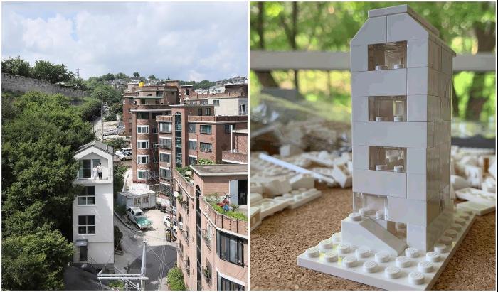 Если собирать дом по принципу конструктора «Лего», то получится задействовать даже 20 кв. м (Seroro House, Сеул).