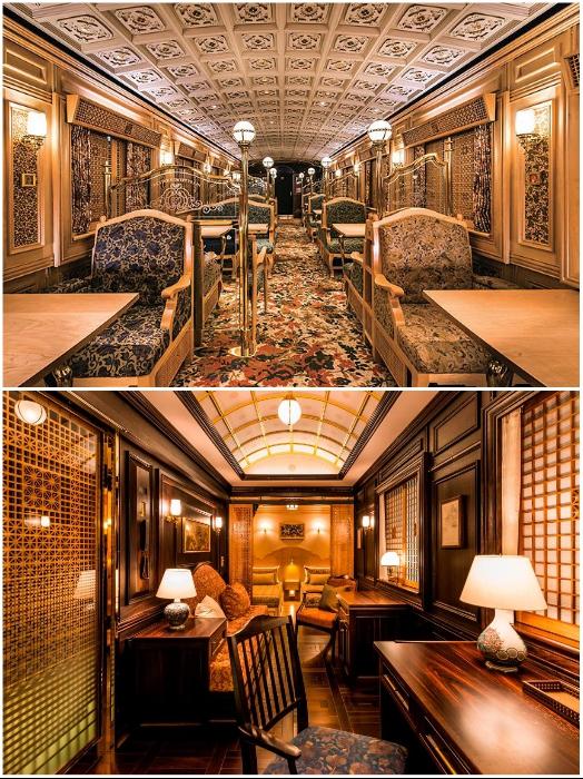 Личные апартаменты и лаунж-зона второго вагона экскурсионного поезда «Aru Ressha». | Фото: takumist.wordpress.com/ japanstation.com.