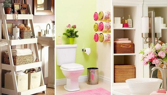 Такие системы хранения станут главным украшением ванной комнаты.